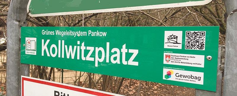 Wegeleitsystem Kollwitzplatz